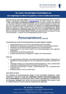 Personalreferent (m/w/d)